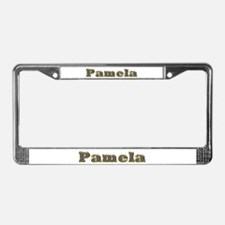 Pamela Gold Diamond Bling License Plate Frame