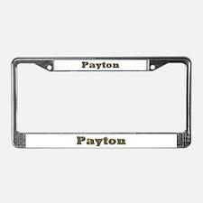 Payton Gold Diamond Bling License Plate Frame