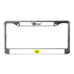 olivia name with stars License Plate Frame