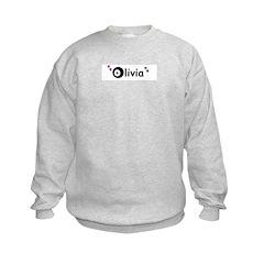 olivia name with stars Sweatshirt