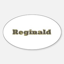 Reginald Gold Diamond Bling Oval Decal