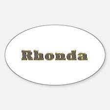 Rhonda Gold Diamond Bling Oval Decal