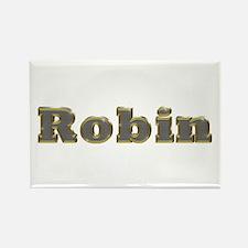 Robin Gold Diamond Bling Rectangle Magnet