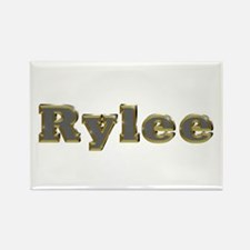 Rylee Gold Diamond Bling Rectangle Magnet