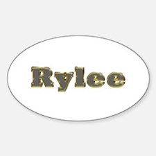 Rylee Gold Diamond Bling Oval Decal