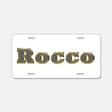 Rocco Gold Diamond Bling Aluminum License Plate