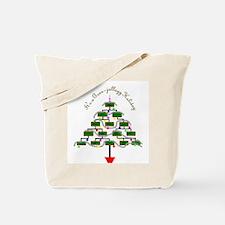 Genealogy Christmas Tree Tote Bag