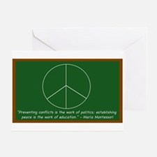 Montessori Peace Quote Greeting Card