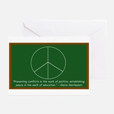 Montessori Peace Quote Greeting Cards (Pk of 20)