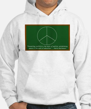 Montessori Peace Quote Jumper Hoody