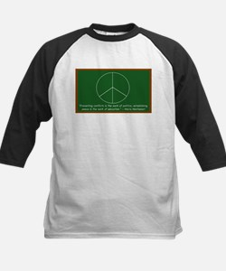 Montessori Peace Quote Kids Baseball Jersey