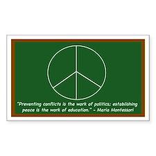Montessori Peace Quote Rectangle Decal