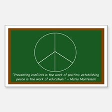 Montessori Peace Quote Rectangle Decal