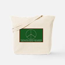 Montessori Peace Quote Tote Bag