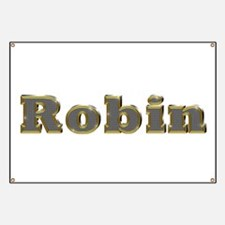 Robin Gold Diamond Bling Banner