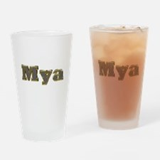 Mya Gold Diamond Bling Drinking Glass