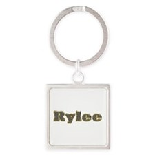 Rylee Gold Diamond Bling Square Keychain