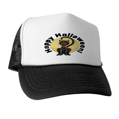 Black Cat Full Moon Trucker Hat