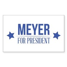 Meyer For President Blue Decal