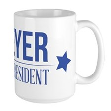 Meyer For President Blue Mugs