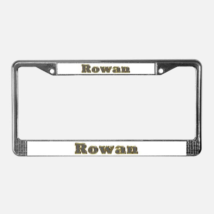 Rowan Gold Diamond Bling License Plate Frame