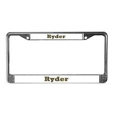 Ryder Gold Diamond Bling License Plate Frame