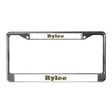 Rylee Gold Diamond Bling License Plate Frame