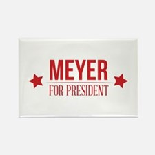 Meyer For President Red Rectangle Magnet
