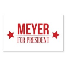 Meyer For President Red Decal