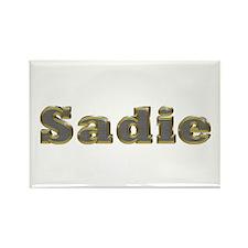 Sadie Gold Diamond Bling Rectangle Magnet