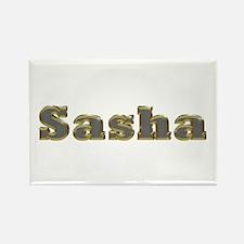 Sasha Gold Diamond Bling Rectangle Magnet