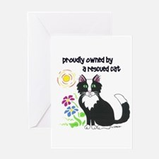 """""""Rescued Cat"""" Greeting Card"""