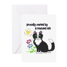 """Rescued Cat"" Greeting Cards (20 Pack)"