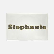 Stephanie Gold Diamond Bling Rectangle Magnet
