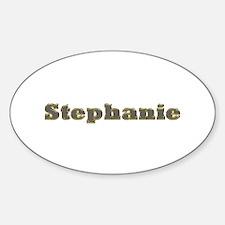 Stephanie Gold Diamond Bling Oval Decal