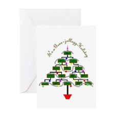 Genealogy Christmas Tree Greeting Cards