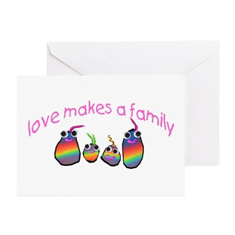 Love Makes A Family Greeting Cards (Pk of 20)