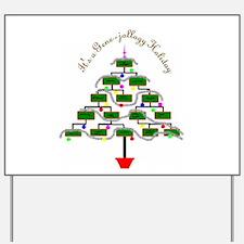 Genealogy Christmas Tree Yard Sign