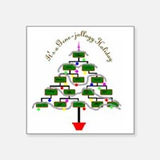 Genealogy Christmas Tree Sticker