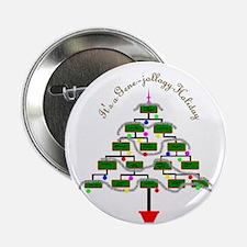 "Genealogy Christmas Tree 2.25"" Button"