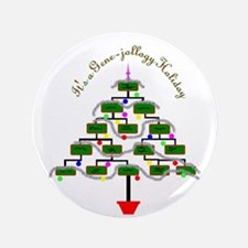 """Genealogy Christmas Tree 3.5"""" Button (100 pack)"""