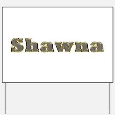 Shawna Gold Diamond Bling Yard Sign