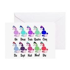 Counting French Poodles Greeting Card