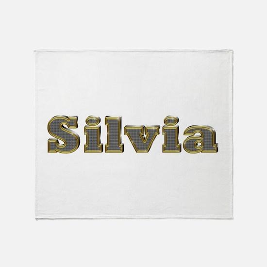 Silvia Gold Diamond Bling Throw Blanket