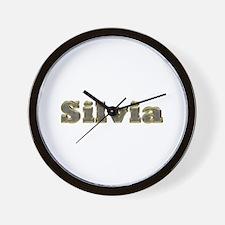 Silvia Gold Diamond Bling Wall Clock