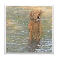 Golden Retriever - Golden Riv Tile Coaster