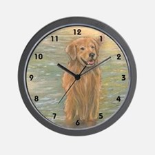 Golden Retriever - Golden Riv Wall Clock