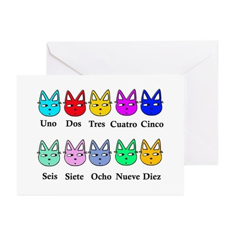 Spanish Counting Greeting Cards (Pk of 20)