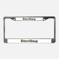 Sterling Gold Diamond Bling License Plate Frame