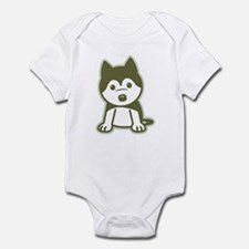 Husky Puppy Infant Bodysuit